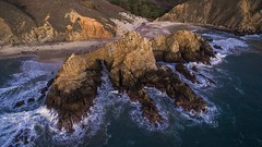 Pfeiffer Beach (dostehboss) Tags: ocean california sunset beach water bigsur highway1 pacificocean pfeiffer pfeifferbeach rockformation drone dronephotography djiphantom