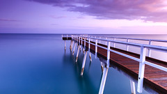 Scarness Jetty (jsnowy2768) Tags: ocean seascape beach water clouds sunrise bay pier pacific jetty australia esplanade queensland herveybay gnd frasercoast graduatedneutraldensity
