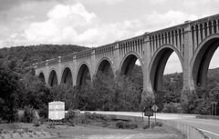 Black & White Slides (Framemaker 2014) Tags: county railroad america creek pennsylvania united railway viaduct historical states wyoming erie nicholson lackawanna tunkhannock