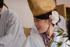 Fukumusume, Imamiyaebisu-jinja (shrine), Osaka (jtabn99) Tags: girl nippon miko  naniwa luckylady    nokorifuku  kicchou 20160111