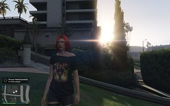 Grand Theft Auto V 01.22.2016 - 09.14.01.04 (holdz4) Tags: sunset sol girl car do moto carro gta por ruiva bandido gtav gtavonline