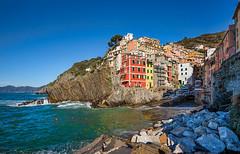 Riomaggiore - Cinque Terre (marypink) Tags: winter sea sky seascape colors mare pov liguria cielo cinqueterre borgo unescoworldheritage riomaggiore nikond800 nikkor1635mmf40
