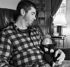 Protector (Brandon Lee Dittsworth) Tags: family white black photo shoot sitting pennsylvania father mountpleasant inside gia protector daugther