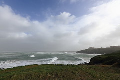 Winter Wanderings in Newquay (4) ~ Storm Imogen (Beccy Melling) Tags: light seascape storm clouds canon landscape cornwall wind newquay wave wideangle stormy gale imogen cornish kernow 1635mm beccymelling 5dmarkiii 8feb2016 stormimogen 8february2016