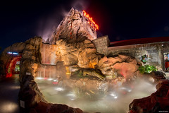 Disney Springs (mwjw) Tags: longexposure orlando nightshot florida disneyworld downtowndisney rainforestcafe disneydisneyworld markwalter nikond800 rokinon8mm mwjw disneysprings