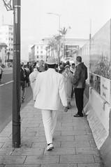 The Swag (Hamza2F) Tags: street blackandwhite monochrome analog canon blackwhite noiretblanc streetphotography style morocco hp5 casablanca swag ilford argentique