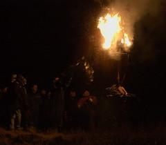 Burn the Clavie (Curl66) Tags: winter people night canon dark fire photography scotland barrel january newyear celebration burning burn tradition visitors moray burghead 1101