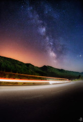 Dreams Way (Mahmood Alsawaf) Tags: nightphotography sky mountains night way stars photography lights landscapes flickr nightscape fineart iraq rood         milkway      mahmoodalsawaf