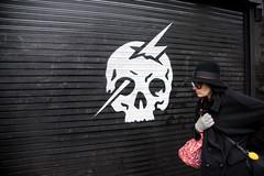 (yedman) Tags: sanfrancisco california street woman black art skull graffiti nikon candid haightashbury d750 yedman