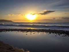 Widemouth Bay (AppleTV.1488) Tags: 2015 25oct2015 25102015 5why 504conceptual adobephotoshoplightroom571macintosh appletv1488 bude clouds cloudy cornwall england europe gb gbr greatbritain kernow northcornwall october uk unitedkingdom widemouthbay year cloud iphone iphone5s iphoneography serene focallength35mm pm unknownflash landscapeaspectratio