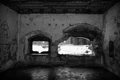 bomb shelter (acgasser) Tags: world white black scary war secret hidden ww2 ww1 shelter bomb