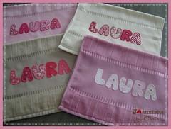 toalhinhas escola (Joanninha by Chris) Tags: baby handmade embroidery artesanato bordado toalhas feitoamo enxovalbebe aplicaodetecido