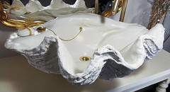 Gold Sink 6 (LittleGems AR) Tags: ocean sea sculpture sun beach home statue stone giant bathroom shower gold aquarium soap sand bath crystals hand contemporary unique decorative shell craft style toilet towel clam basin special clean shampoo taps wash ornament gift present pearl reef spa figures gems opulent gem fossils oneoff clamshell mollusks cloakroom bespoke personalised tridacna sculpt crafted gigas facetowel
