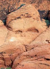 Skull Rock (chantsign) Tags: redrockcanyon skull eyes head nevada clay brow