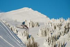bluebird day before the storm (Jeff Bernhard) Tags: wyoming tetons snowmobiling tetonpass