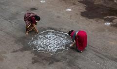 Ladies Kolam (Padmanabhan Rangarajan) Tags: india culture chennai carfestival parthasarathytemple