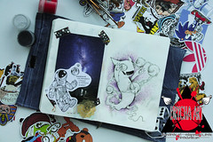 My moleskine (A-Drycha) Tags: art love moleskine monster illustration painting star book space dots cosmonaut scetch scetchbook dotwork ilovemoleskine mysingingmonsters