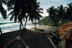 Fishermen, houses and sea (V.H. Belvadi) Tags: trees india house beach seaside fisherman nikon village fishermen coconut kerala hut monsoon fullframe dslr trivandrum d600 thiruvananthapuram belvadi vhbelvadi venkatramharishbelvadi vhbelvadicom