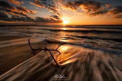Duna Verde beach (Callegher Marco - The beauty in my eyes) Tags: venice sea sky seascape verde beach clouds sunrise canon mare waves branch cloudy alba wave duna ramo venezia spiaggia caorle