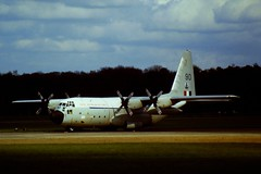 C-130E A97-190/90 37Sq, RAAF. Soesterberg, 29-04-1985. (Aircraft throughout the years) Tags: lockheed raaf hercules airbase soesterberg c130e 37sq a97190