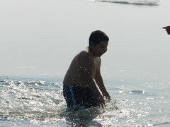 Going swimming at Long Point August 2015 32 (cambridgebayweather) Tags: swimming nunavut cambridgebay arcticocean dominicsim