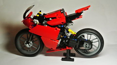 Lego Technic Supersport Motorcycle (MOC) (hajdekr) Tags: bike wheel sport race toy lego wheels engine racing motorbike technic motorcycle vehicle motor ducati racer supersport fairing handson moc legotechnic myowncreation vengine