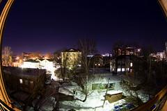 from the balcony (DmitryYushkevich) Tags: longexposure canon russia naturallight nightshots nightsky nightscene nightphotos ulyanovsk zenitar16 fisheeye canon6d nightviewofthecity