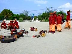 After the ceremony . (Franc Le Blanc .) Tags: bali beach musicians lumix ceremony panasonic hindu pantai kuta legian odalan