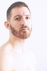 (Damien Cox) Tags: uk portrait selfportrait man male me face self ego myself beard eyes nikon masculine moi autorretrato scruff stubble i damiencox damiencoxcouk