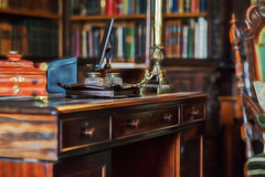 I'll see you in my office! (P Sterling Images) Tags: old england house building century photoshop table office desk bureau sony hampshire tudor full cc study filter national frame trust mansion 16th a7 basingstoke vyne a7r fractalius