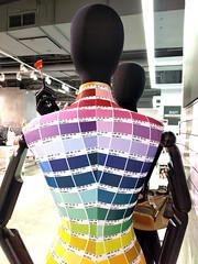 pantone colour chart (Ian Muttoo) Tags: toronto ontario canada mannequin mannequins gimp 20160307163432edit