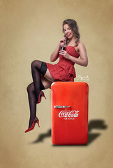 The Coca-Cola pinup ft. Angelina (SpirosK photography) Tags: portrait vintage studio photoshoot cocacola pinup angelna pinupphootgraphy