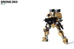Drone - DK3 (Action pose) (Devid VII) Tags: terrain trooper detail mobile pose war lego action military details experiment mini assault troopers suit walker crew marines wars vii mecha mech moc drone reframe devid foitsop devidvii dkt7 lusim