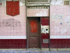streets of cartagena (maximorgana) Tags: door pink 2 cup coffee tile wire maroon trashbit