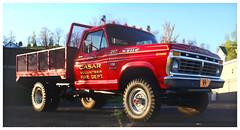 CASAR VFD (daveelmore) Tags: red panorama ford truck firetruck vehicle vfd casar dually f250 stitchedpanorama dioramaartfilter lumixleicadgsummilux25mm114 casarvolunteerfiredepartment