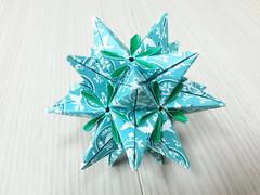 Dongmu-I kusudama (hyunrang) Tags: origami 45 23 stellated icosahedron hur kusudama koreanpattern dongmu kwhur