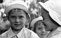 These nice men give us chocolate (theirhistory) Tags: boys kids children war europe wwii ww2 soldiers germans