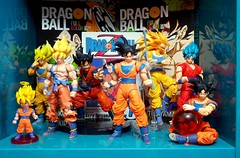 My Goku Collection (Dash Of Salt Photography) Tags: dragonballz bandai goku dbz shfiguarts