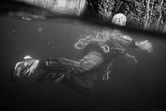 Swimming Suit (Braden Gunem) Tags: arizona water swimming under rope canyon swimmer drysuit canyoneer