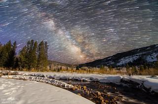 Milky Way Comet Trails