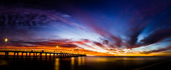 Grange Jetty, Adelaide, South Australia (Marty Friedel) Tags: longexposure sky beach water sand au australia panoramic adelaide southaustralia grange