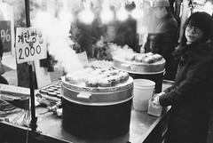 Egg Bread (minwage3412) Tags: bw film rollei analog 35mm bread egg delta korea steam seoul ilford  3200iso rollei35se  streetfoot