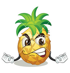 pineapple (pineappleterrace) Tags: food face yellow fruit illustration mouth pose one 1 eyes hands funny mood hand arms graphic arm drawing expression character teeth cartoon whole whitebackground eat health pineapple single angry clipart vector facial isolated comical nutrition foodstuff
