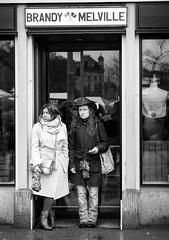 Two Girls, one Brandy (pxlline) Tags: street urban rain umbrella switzerland candid streetphotography zrich ch sechseluten brandymelville dasischzri