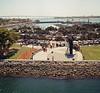 USS Midway (AngelRochaPhotography) Tags: film sandiego ishootfilm socal coronadobridge ussmidway pentax67 kodakportra filmisnotdead unconditionalsurrenderstatue ussmidwaysandiego tunaharborpark 52rolls ibelieveinfilm