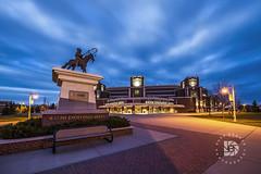 "Evening At ""The Ralph"" Engelstad Arena  #251 (DBruner240) Tags: sunset hockey und north grand arena nd fighting forks dakota ralph hawks sioux engelstad"