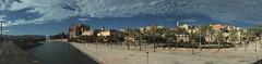 Palma (Henry der Mops) Tags: city panorama water spain wasser stadt mallorca palma spanien mediterraneansea balearicislands mittelmeer balearics canoneos500d canonefs1855mmf3556isii balearenspanien henrydermops mplez palmapanorama1
