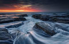 High Tide (Jingshu Zhu) Tags: ocean sea seascape rock sunrise landscape australia narrabeen waterflow