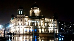 Port of Liverpool building (wirralwater) Tags: light reflection building night liverpool threegraces pierhead portofliverpoolbuilding