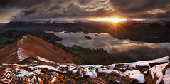 Derwentwater from Catbells (►►M J Turner Photography ◄◄) Tags: england lake sunrise district cumbria derwentwater catbells